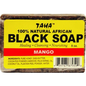 Taha African Black Soap 100% Natural Mango 5 Oz