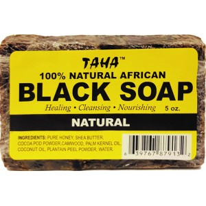 Taha African Black Soap 100% Natural 5 Oz