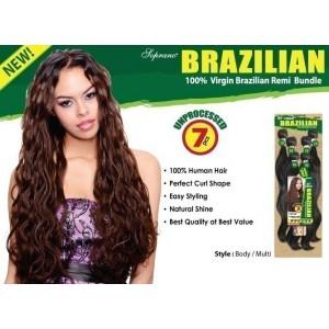 Bijoux Beauty Element Soprano Unprocessed  Brazilian Virgin Remy Human Hair Weave Body Wavy  6pcs + Free Closure