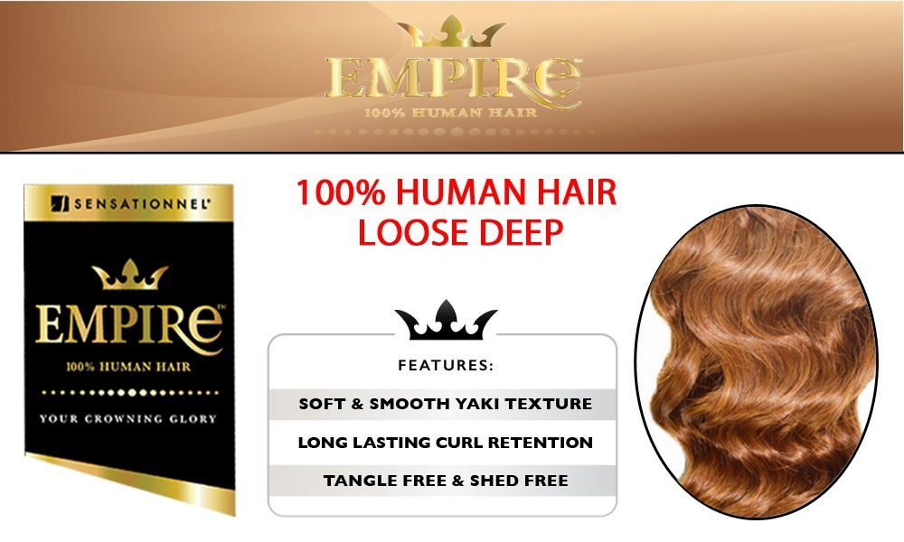 Sensationnel Empire Loose Deep 100 Human Hair Weave 12